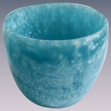 Vintage Turquoise Ocean Waves in the Water Textured Wide Resin Bangle