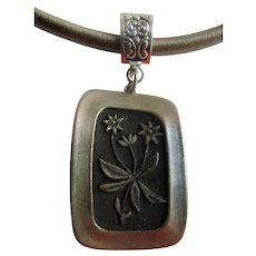 Vintage Signed R. Tennesmed of Sweden Pewter Edelweiss  Pendant