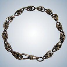 Vintage 14kt GF Signed Simmons Fancy Link Charm Bracelet Lobster Claw Clasp Rose Gold Bracelet