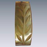 ART DECO Carved Applejuice Bakelite Carved and curved pin