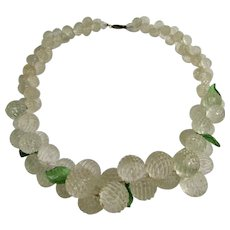 Vintage Vanilla Tutti Frutti Berries Early Plastic Graduated Necklace