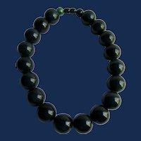 Vintage Blue Moon Hefty Bakelite Huge 20mm Bead Choker Necklace