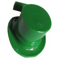 Vintage Green Plastic St. Patrick's Hat - Celebrate all things Irish!
