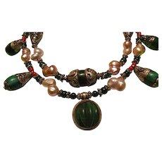Tibetan Beads Amber Keishi Pearls : Bedouin Beauty
