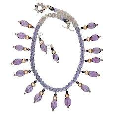 Lavender Quartz Amethyst Pearls : Movie Star