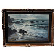 "Violet Parkhurst seascape titled ""Pacific Sparkle"", 24""x36"" original oil on canvas"