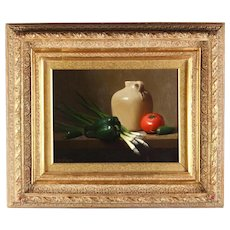 JERRY WEERS (1953 - Texas), Still Life with Peppers. oil on canvas