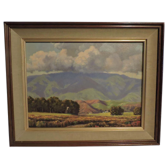 "HOWARD LITTLE California painting titled ""Cloud Shadows on Otay Mt"""
