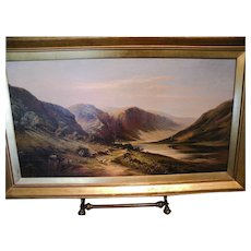 Patrick Vincent Duffy, Glendalough Ireland Oil on Canvas, Masterpiece Magnificent Painting