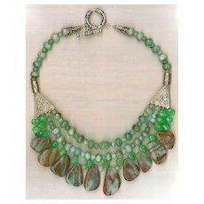 Peruvian Opal Beads Chrysophase : Peruvian Opal Beauty