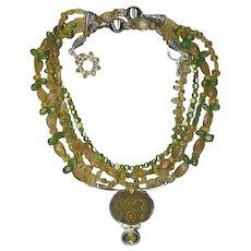 Peridot & Citrine beads : So Sumptuous