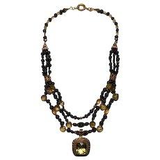 Citrine & Sapphire beads : Sunshine & Blue Sky