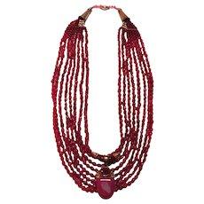 Genuine Ruby beads Cobalt Pink Druzy Drusy Pendant : Pretty N Pink (Rubies)