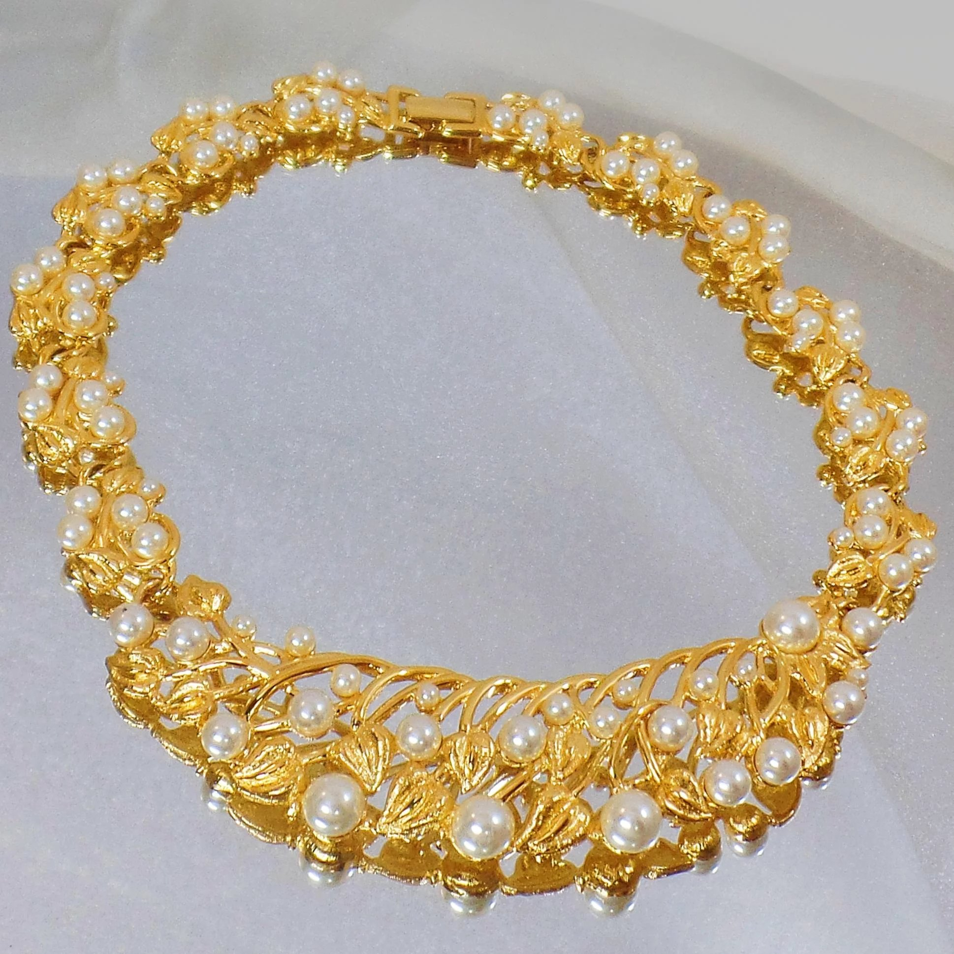 yellow necklace hallmark vintage gold products english chain