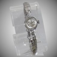 Vintage Benrus 17 Jewel Watch. Art Deco 17 Jewel Ladies Silver Tone Watch. Women's Silver Designer Winding Watch.