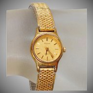 Vintage Gold Pulsar Ladies Watch. Gold Tone Seiko Women's Watch.