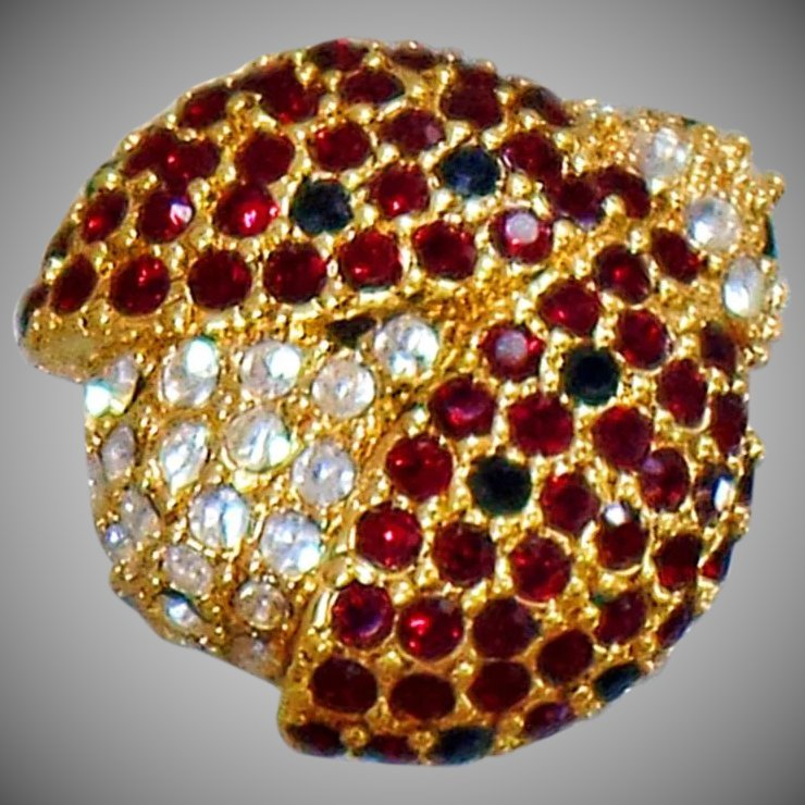 Lovely Gold Lady Bug Brooch. Click To Expand