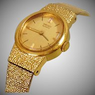 Vintage Gold Seiko Ladies Watch. Gold Plated Oval Face Seiko Women's Watch.
