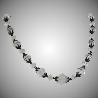 Austrian Crystal Necklace. Laguna Necklace. Vintage Necklace. Jewelry for Brides. waalaa. Necklaces for Women.