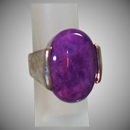 Purple Amethyst Ring. Sterling Silver Amethyst Ring. Modernist Ring. Abstract Ring. waalaa.