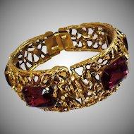Ladies Watch. Ladies Watch. Brutalist Bracelet Watch. Gold Amethyst Watch. Peek A Boo Watch. Rhinestone Watch. waalaa.