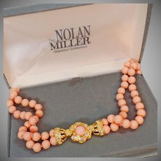 Nolan Miller Necklace. Coral Necklace. Vintage Necklace. Nolan Miller Jewelry. Vintage Jewelry. waalaa. .Necklaces for Women.
