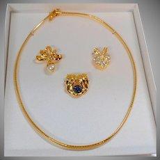 Nolan Miller Necklace. Vintage Necklace. Enhancers. Omega Necklace. Nolan Miller Jewelry. Vintage Jewelry. Necklaces for Women. waalaa