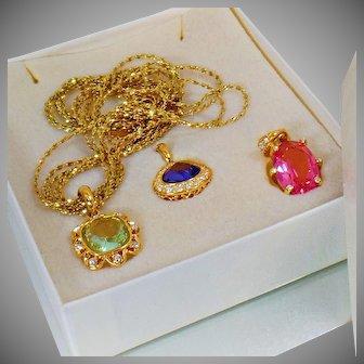 Nolan Miller Necklace. Vintage Necklace. Enhancers. Interchangeable Necklace. Nolan Miller Jewelry. Necklaces for Women. waalaa