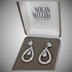 Vintage Earrings. Large Clip Earrings. Nolan Miller Earrings. Rhinestone Earrings. Diamond Earrings. Swarovski. Jewelry for Women. waalaa