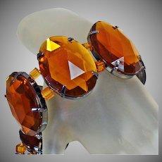 Joan Rivers Bracelet. Vintage Bracelet. Amber Brown Bracelet. Stretch Bracelet. Bracelets for Women. Jewelry for Women. waalaa.