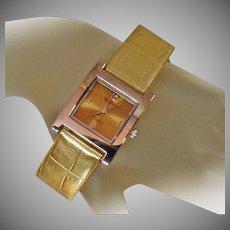 Ladies Watch. Designer Watch. Vintage Watch. Gruen Ladies Watch. Women's Gruen Watch. Bronze Gold Gruen Watch. Jewelry for Women. waalaa