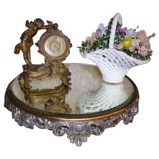 ON HOLD -Antique Victorian Plateau Mirror