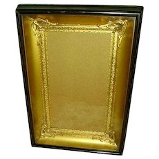 Gorgeous French Gilt Dore Bronze/Ormolu Insert Shadowbox Picture Frame