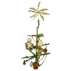 """Early 1900 German Feather Goosefeather Tree 23""""/Victorian Tinsel Ornaments/German Ornaments"""