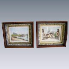 Antique Victorian Eastlake Walnut Picture Frames Pair