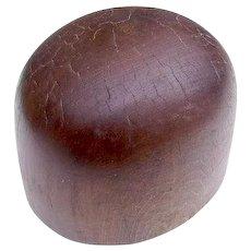 Vintage Wooden Hat Block Form Millinery Mold