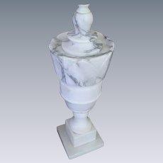 Vintage Alabaster Marble Carved Table Lamp