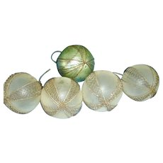 Victorian Wire Wrapped Blown Glass Christmas Ornaments (5)Feather Tree Ornaments