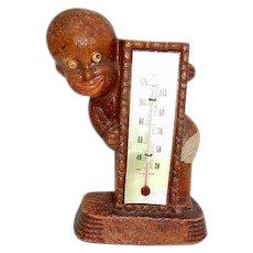 Vintage Black Boy Thermometer Black Memorabilia Dated 1949