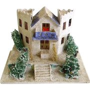 Vintage 1930's Large Mica Putz House/Christmas Putz House/Old Japan