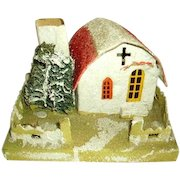 Vintage 1930's Large Mica Putz House/Christmas Putz House/Old Japan/Mission