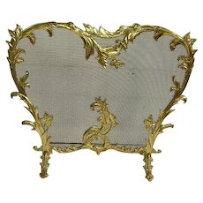 ON HOLD -Gorgeous French Rococo Style Brass Firescreen