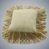 Exquisite French Net Lace Boudoir Pillow 1930's