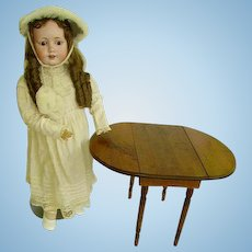 "Early Childs/Doll Drop Leaf Table/Table for Larger Dolls/13"" Tall"