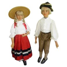 Early 1900's Wax Child Mannequins Lifesize Hansel/Gretel/Gems London
