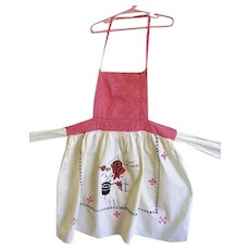 Vintage Black Americana Apron with Bib