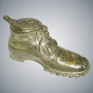 Early Metal Shoe Inkwell/Gamperdon/ German/Swiss Inkwell