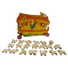 Rare 1920s TrixyToy Noahs Ark and Animals