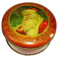 Vintage Santa Tindeco Candy Tin