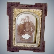 Victorian Picture Frame Dated 1877/Victorian Ladies Photo/Wire Stand